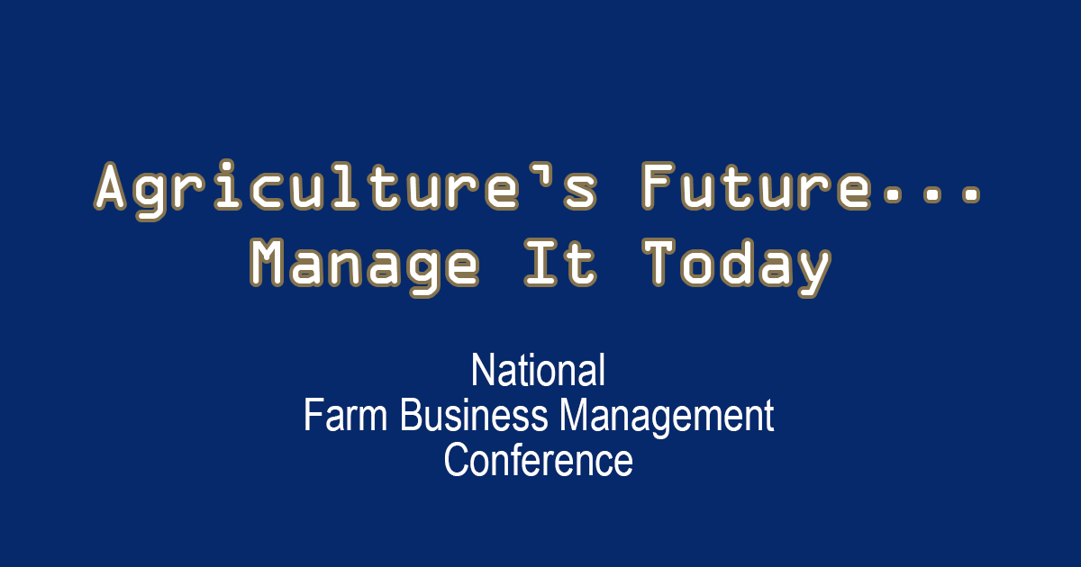 2013 National Farm Management Conference